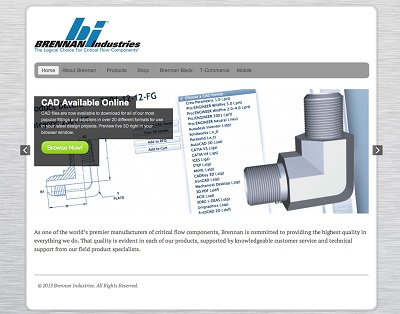 Brennan Industries Launches New Website  with Free CAD Download Solution
