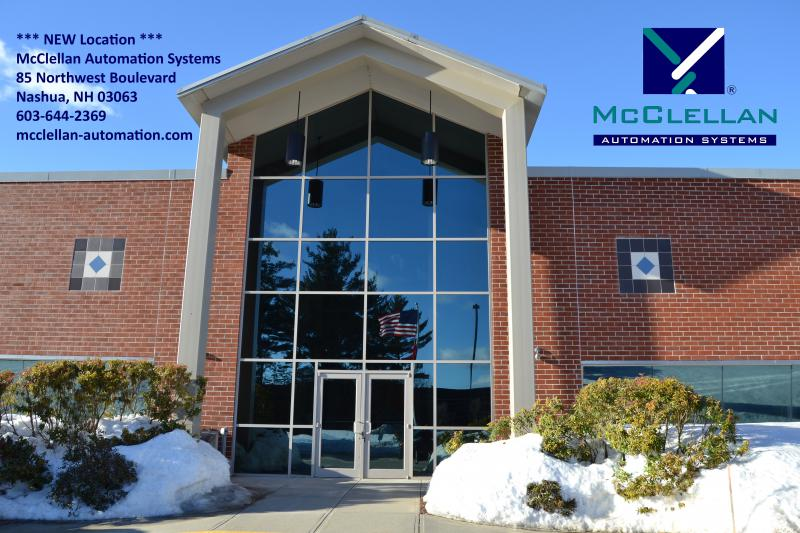 McClellan Automation Systems Moves to Nashua, New Hampshire