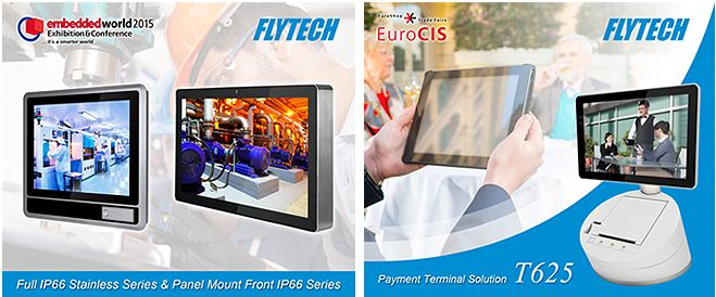 Flytech Technology Exhibits New Payment-Enabled POS System and Industrial Panel PC Series in EuroCIS and Embedded World