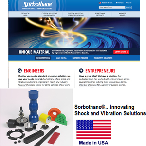 A Different Kind Of Innovation - Sorbothane, Inc. Launches  New Website