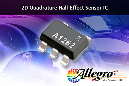Allegro MicroSystems, LLC Announces Unique New 2D Speed And Direction Sensor IC Using Vertical And Planar Hall Elements