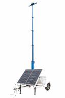 Portable Solar Powered Tower on Seven Foot Trailer