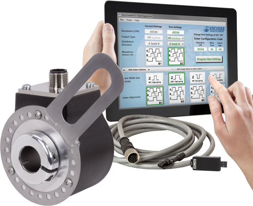 ENCODER PRODUCTS COMPANY INTRODUCES  PROGRAMMABLE THRU-BORE ENCODER