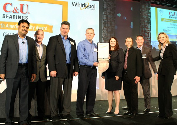 C&U Americas Honored by Whirlpool with 2016 Whirlpool Supplier Award for Quality Excellence