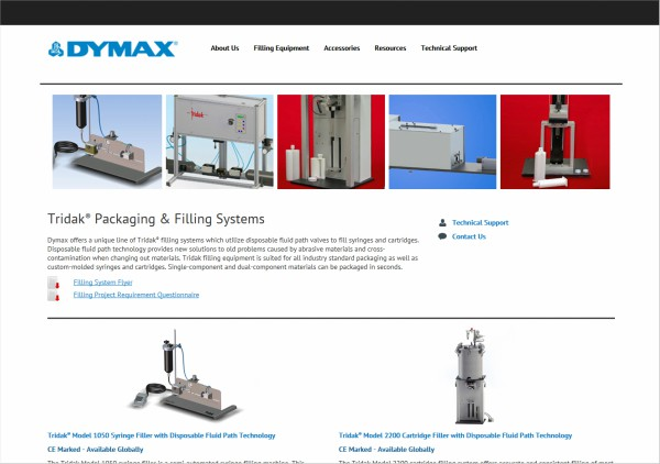 Dymax Corporation Debuts New Tridak Website