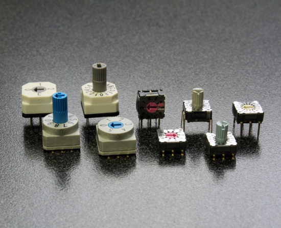 CIT Relay & Switch Offers Two Types of Coded Rotary DIP Switches