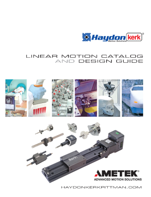 HAYDON KERK MOTION SOLUTIONS RELEASES  2018 LINEAR MOTION CATALOG AND DESIGN GUIDE