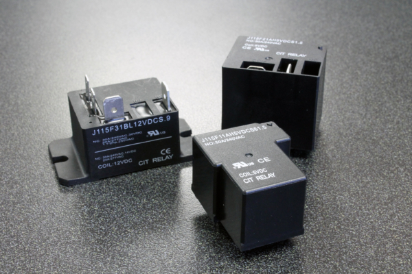 CIT Relay & Switch Offers 50amp Rating on UL Approved J115F Series Relays