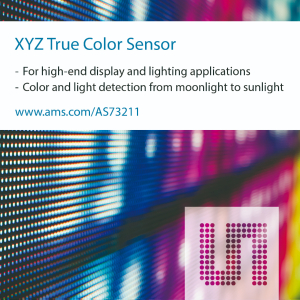 ams' new XYZ color sensor offers widest dynamic range, highest sensitivity for high-end consumer and industrial applications