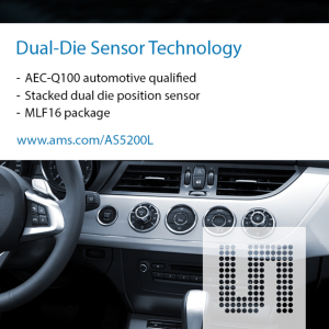 ams announces automotive-grade sensor IC for shifter position detection in hybrid, battery-powered and conventional vehicles