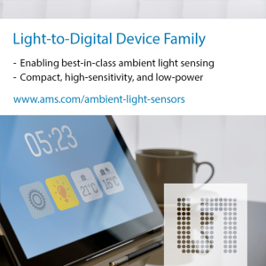ams launches new sensors for smart home devices that optimize brightness in any lighting condition
