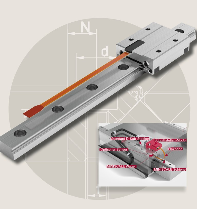 Schneeberger Linear Technology Introduces the MINISCALE PLUS 0.1 Micron Integrated Encoder System