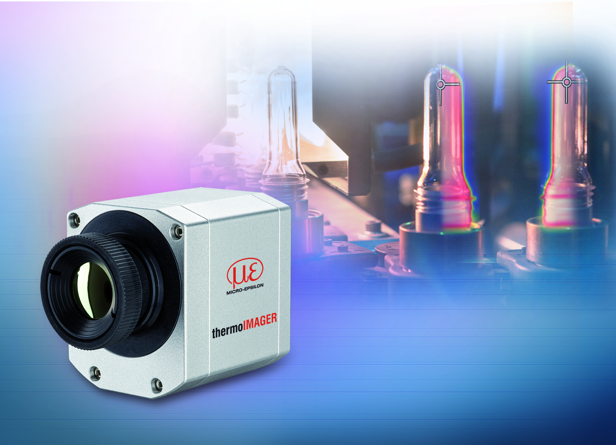 Thermal imaging camera for industrial temperature monitoring tasks