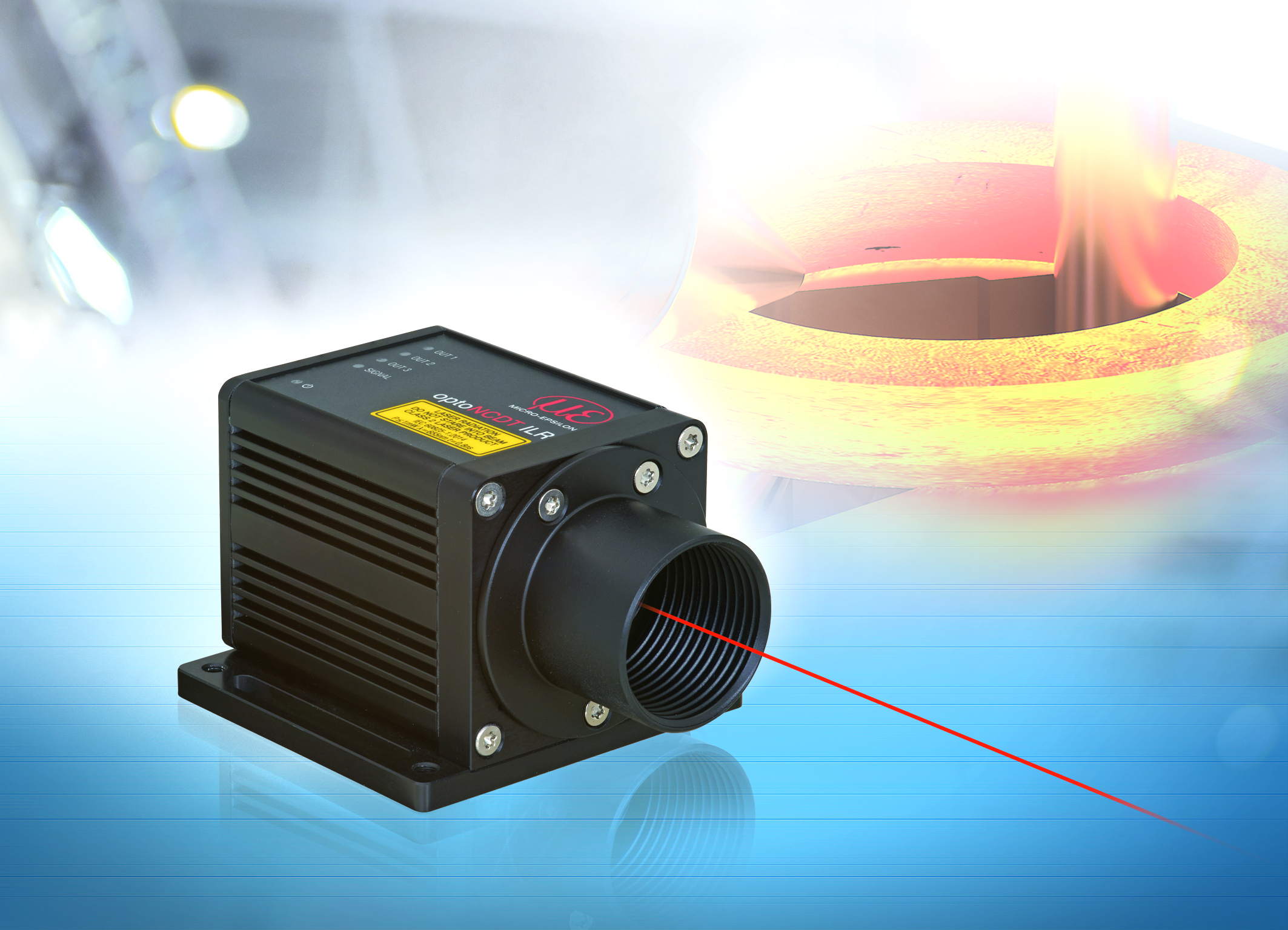High-performance laser distance sensor for industrial applications