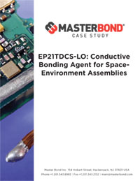EP21TDCS-LO: A Conductive Bonding Agent for Space-Environment Assemblies