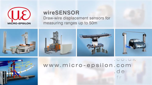 Draw-wire displacement sensors