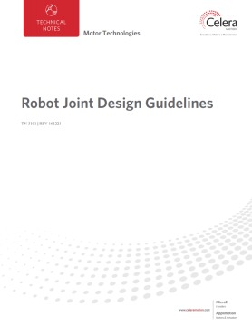 Robot Joint Design Guidelines