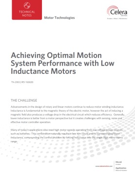 Achieving Optimal Motion System Performance with Low Inductance Motors
