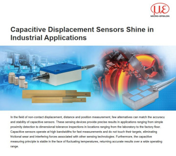 Capacitive Displacement Sensors Shine in Industrial Applications