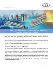 Learn Why Eddy-Current Sensors Are Now Replacing Inductive Sensors and Switches