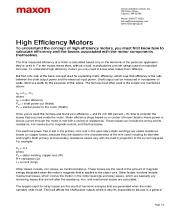 High Efficiency Motors