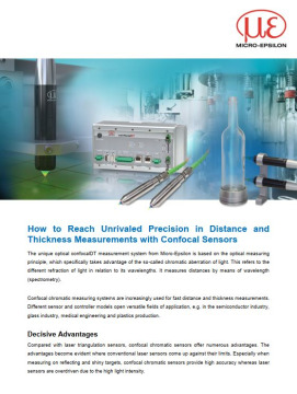 How to Reach Unrivaled Precision in Distance and  Thickness Measurements with Confocal Sensors
