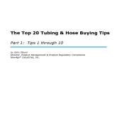 Tubing & Hose Buying Tips, Part 1
