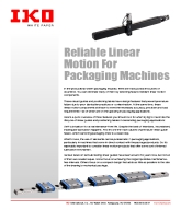 Reliable Linear Motion For Packaging Machines